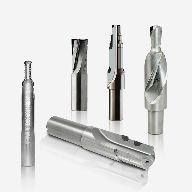 Brazed PCD-CBN from solid Carbide body